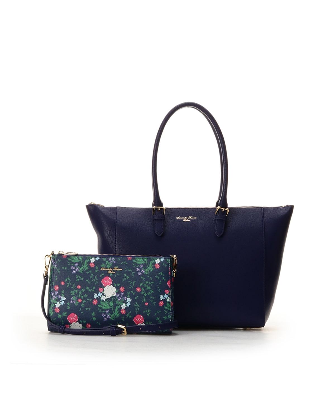 オリジナル花柄ポーチ付きバッグ