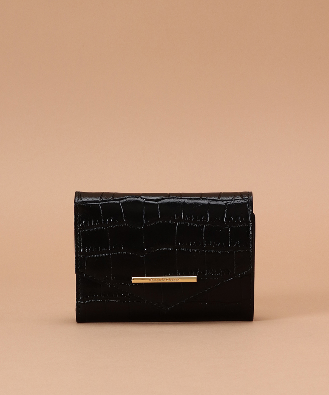 三つ折り財布 (クロコ調 レザー)