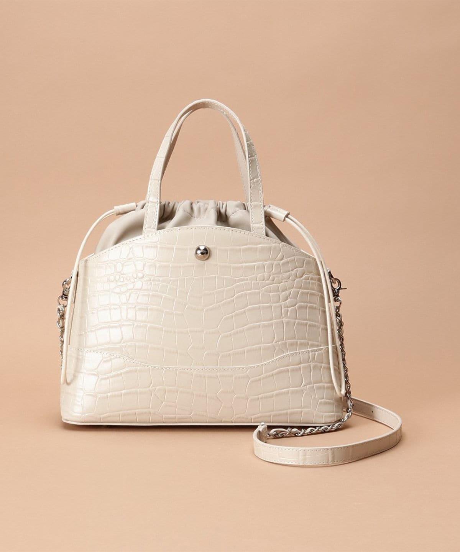 クロコデザインハンドルバッグ