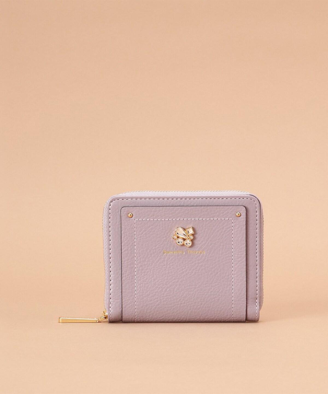 ビジューモチーフ 二つ折り財布