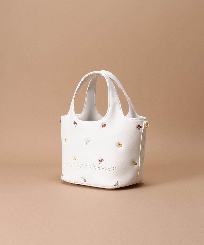 オリジナルフラワー刺繍 トートバッグ