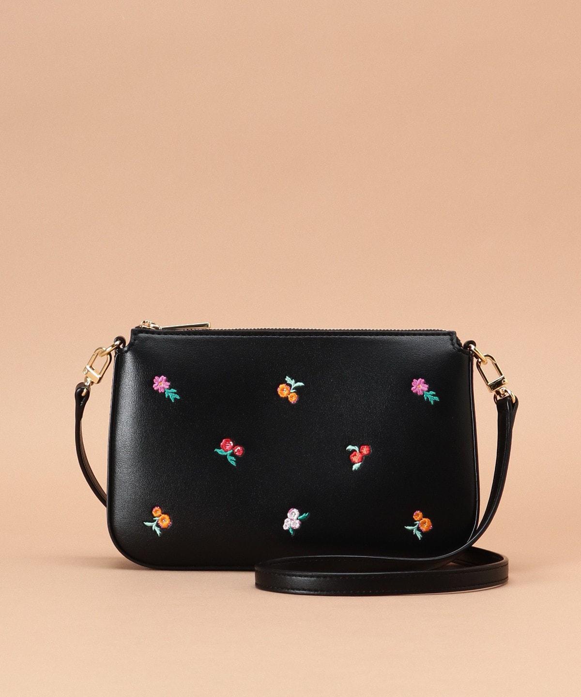 オリジナルフラワー刺繍 ショルダーバッグ