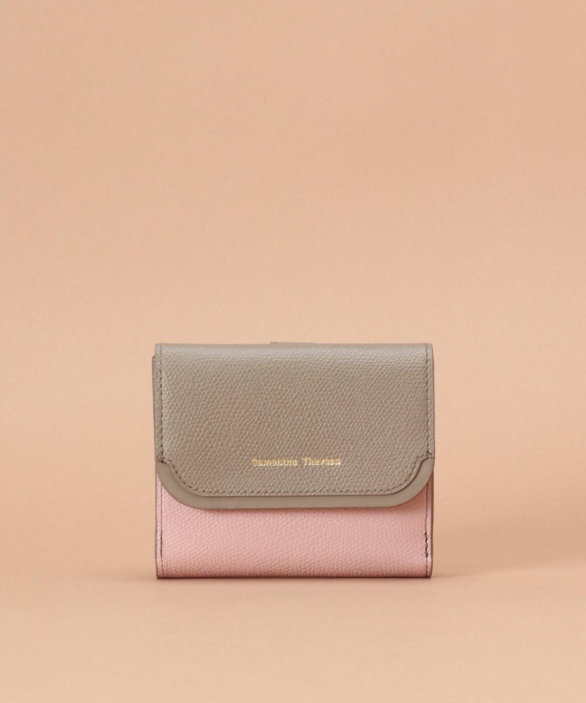 エナメルアクセントバイカラー折財布