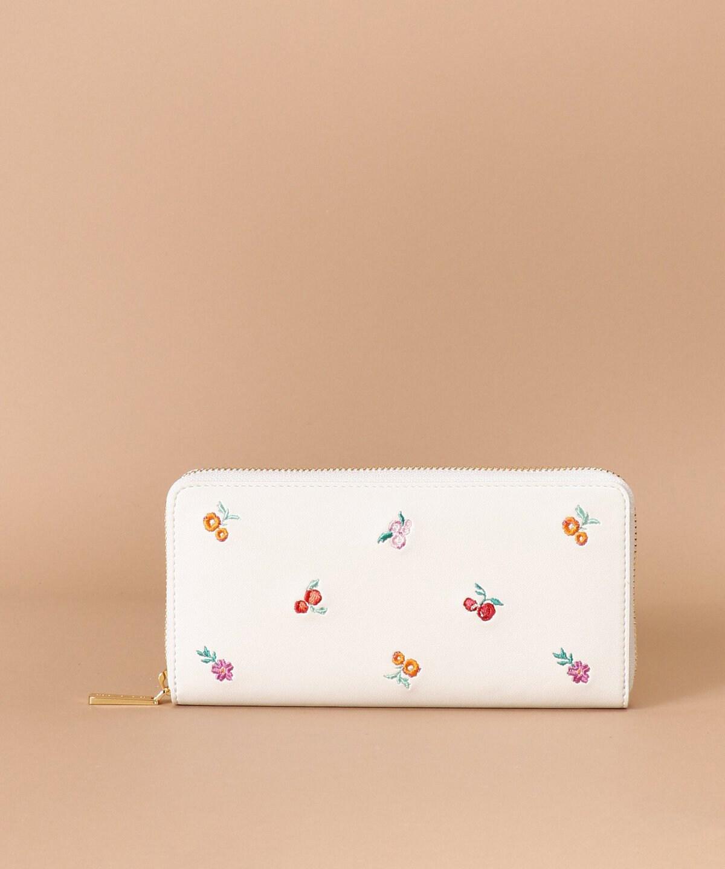 オリジナルフラワー刺繍 長財布
