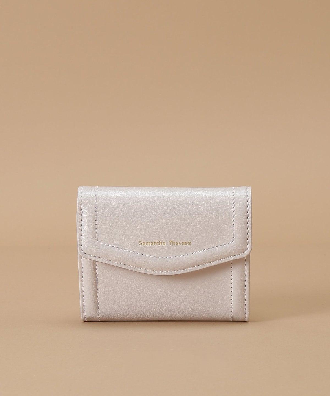 シンプルラメレザー 三つ折り財布