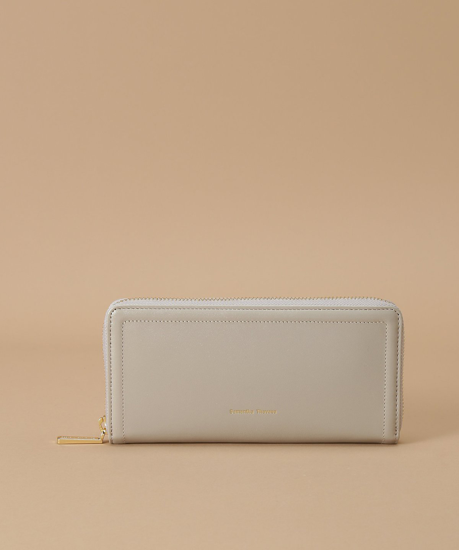 シンプルラメレザー 長財布
