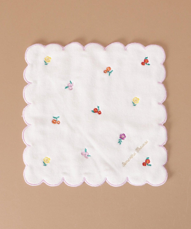 オリジナルフラワー刺繍 タオルハンカチ
