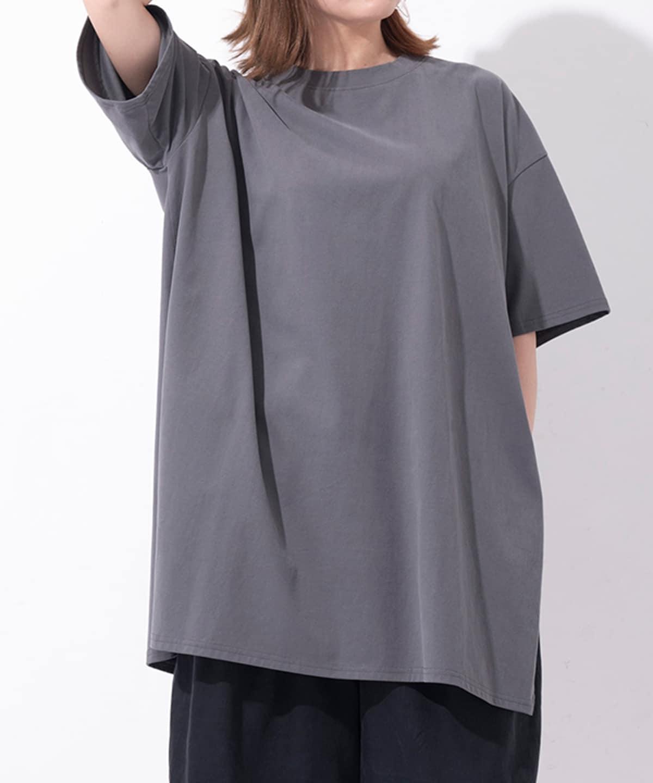 Samantha Green オーガニックコットン混チュニックTシャツ