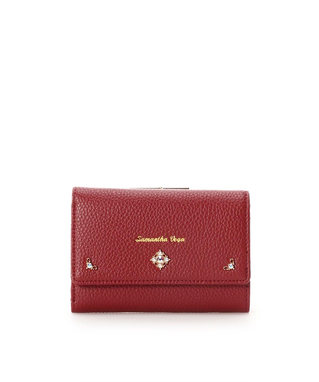 シンプルビジュー折財布