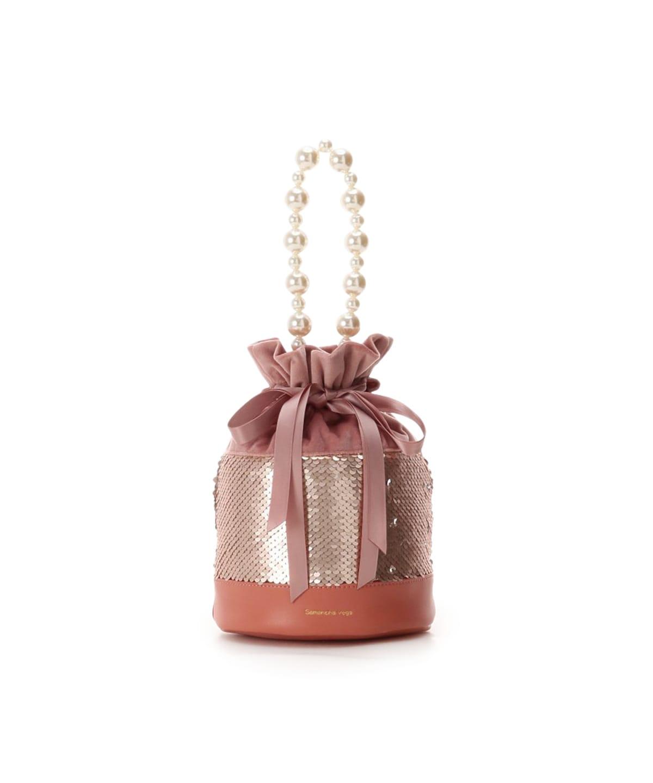 玉城ティナコラボ 巾着型スパンコールバッグ