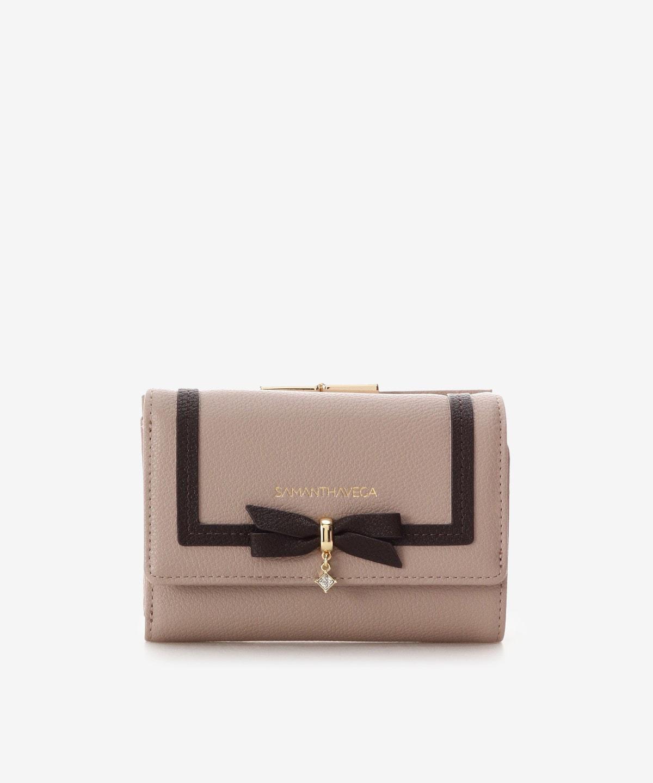 ショコラリボン折財布