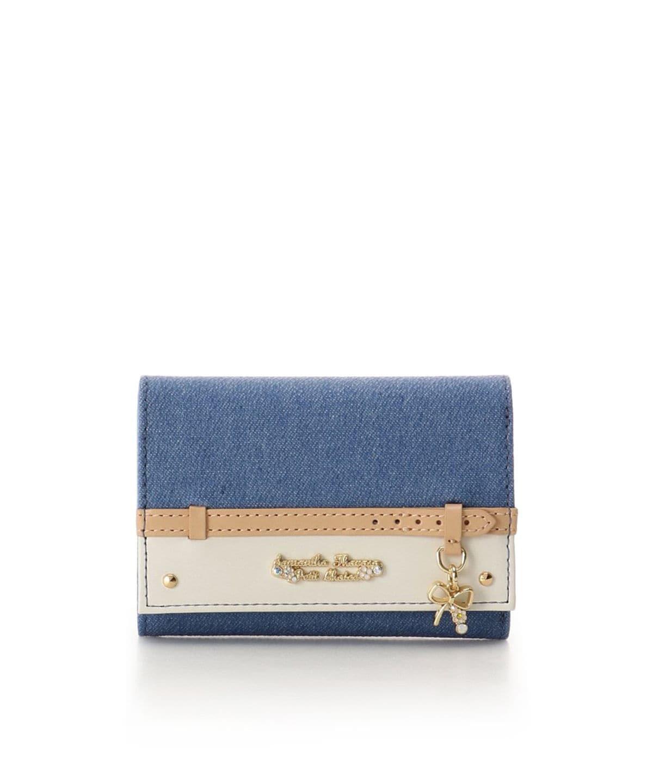デニムベルトリボンモチーフ 折財布