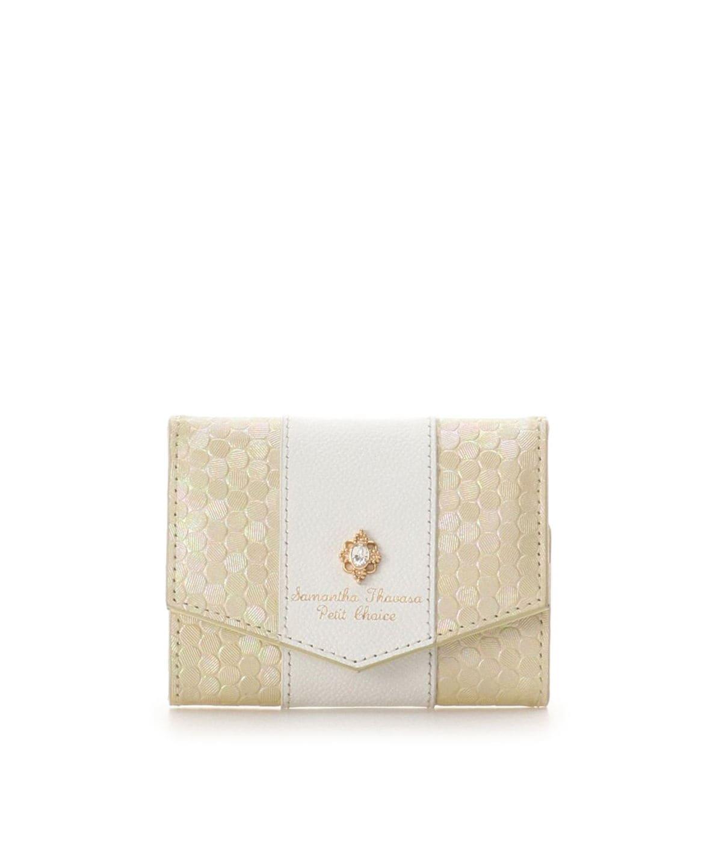 ★スパンコールレザー 折財布