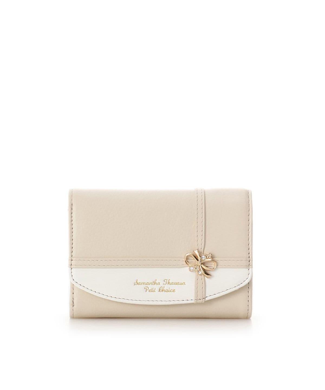 リボンラッピングミニ折財布