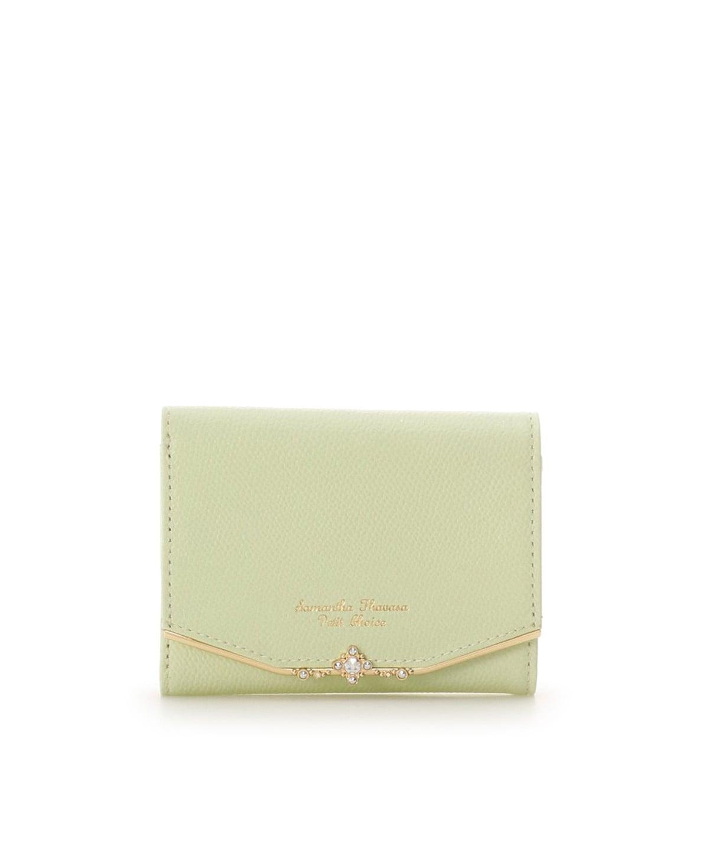 ジュエルバーL字型ジップ折財布