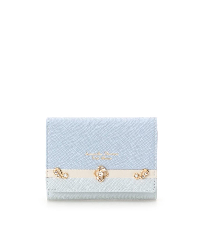 ロココモチーフバイカラー折財布