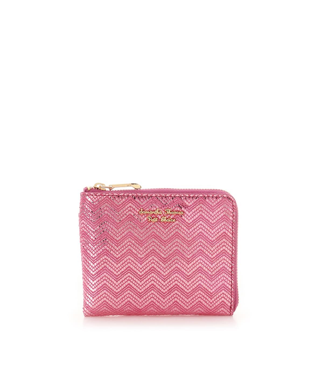 シェブロンストライプ折財布