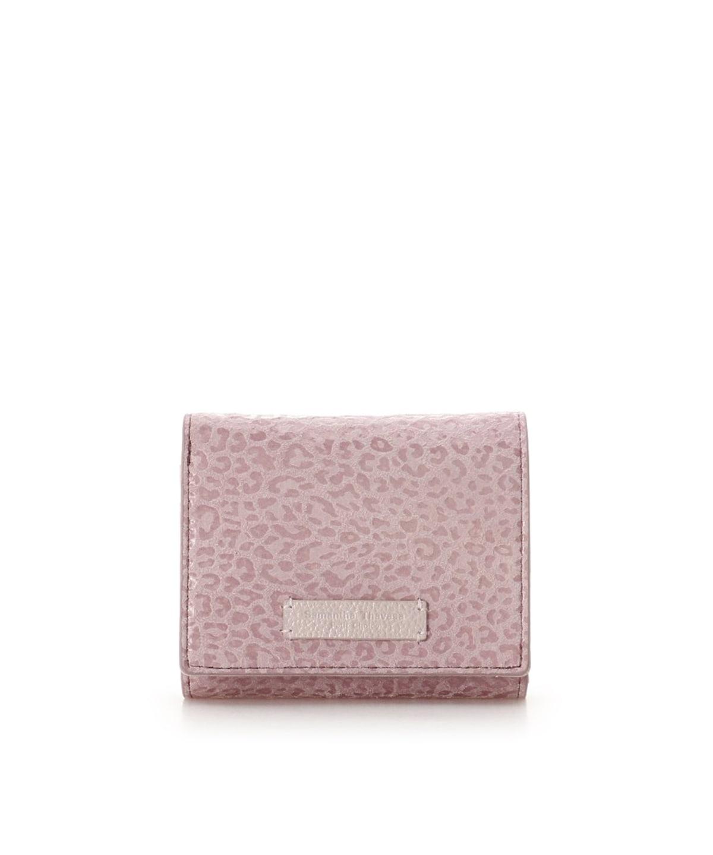 レオパードモチーフ2つ折財布