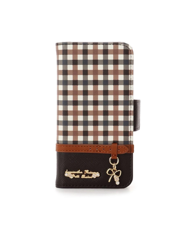iPhone7-8 チェックベルトリボンモチーフiPhoneケース