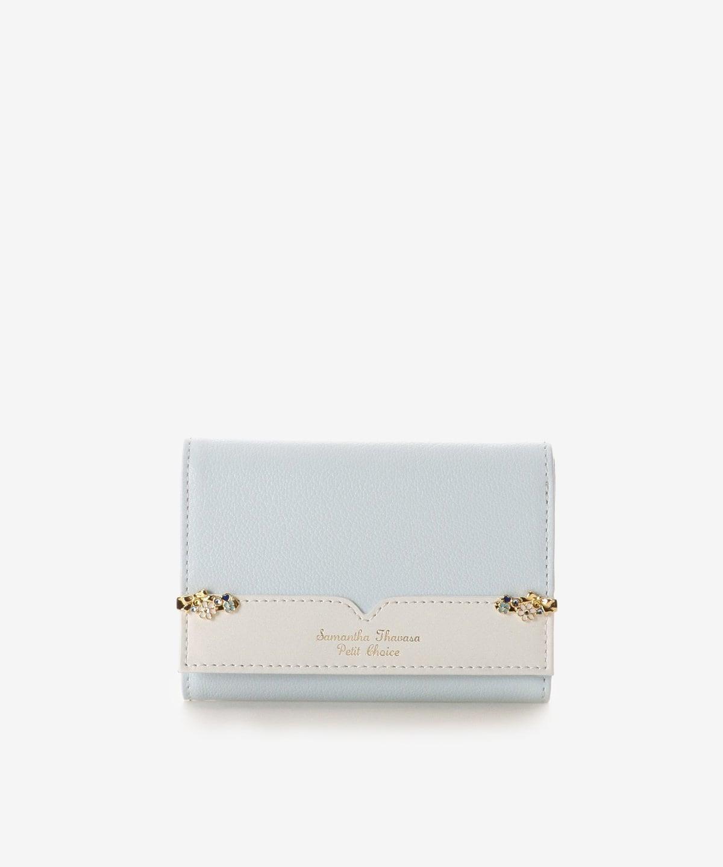サイドフラワーモチーフ折財布