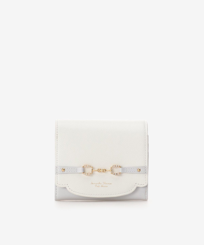 フラワービット折財布