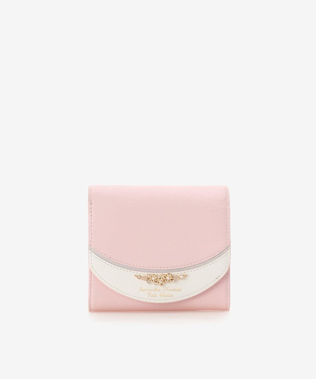 フレンチネイルモチーフ L字ジップ折財布