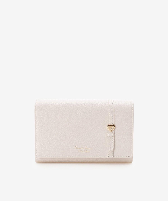 ★ハートモチーフベルト中折財布
