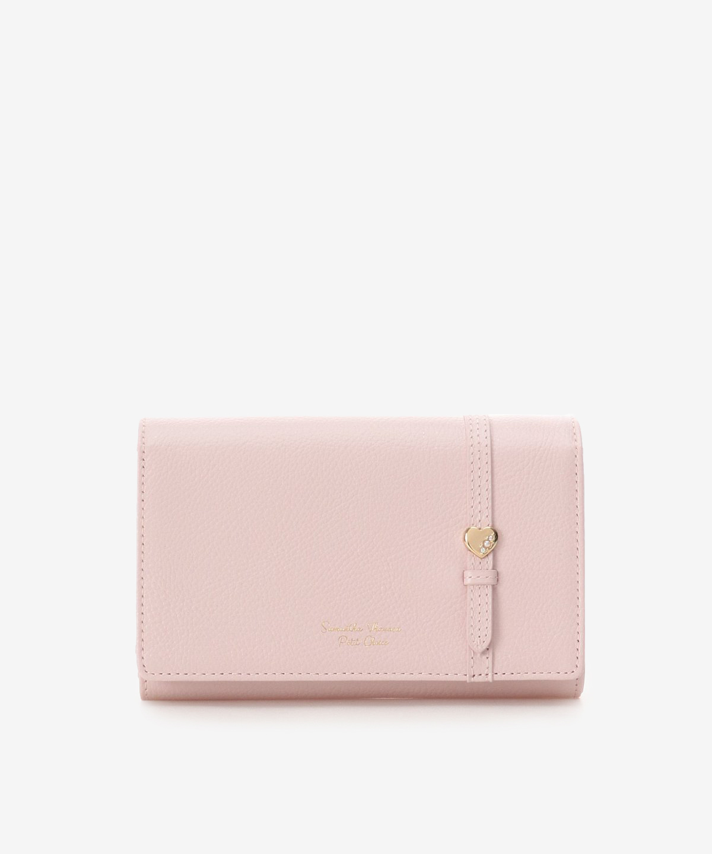 ハートモチーフベルト中折財布