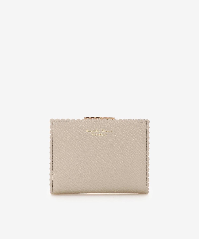 ラッフルモチーフ口金折財布