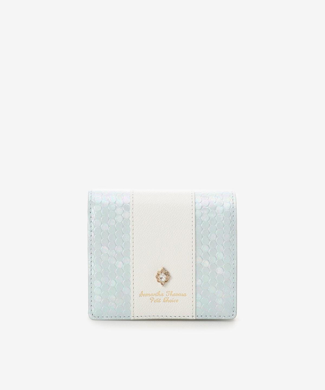 スパンコールレザーBOX型折財布