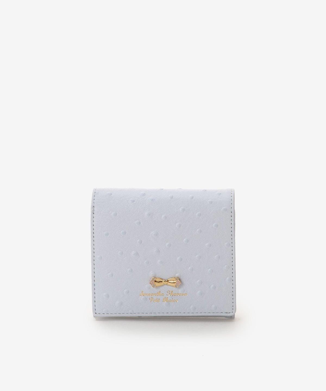 オーストリッチモチーフ折財布