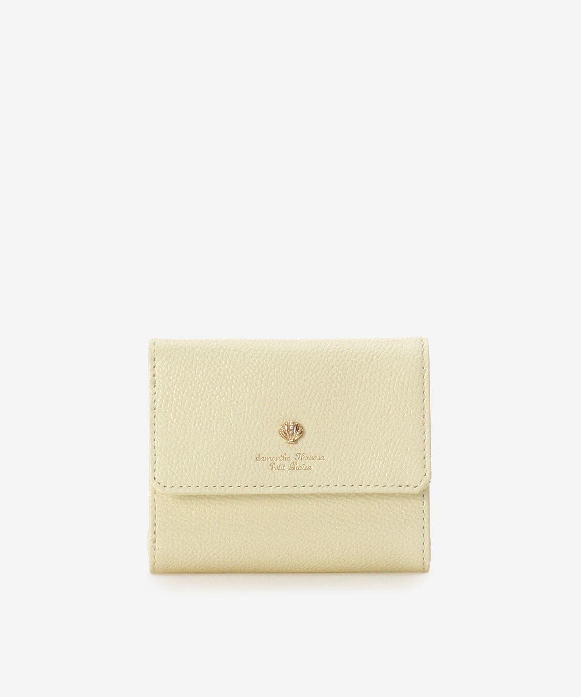 シェルモチーフ口金折財布