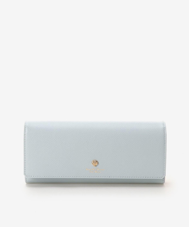 シェルモチーフかぶせ長財布