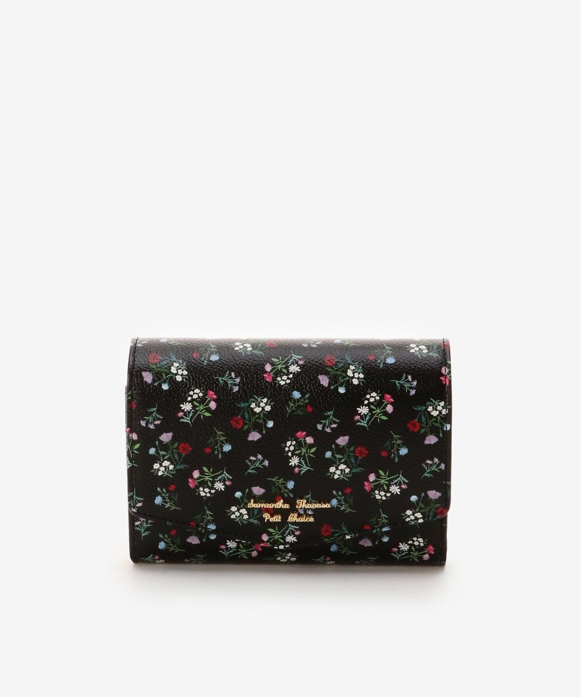 フラワーブーケデザイン中折財布