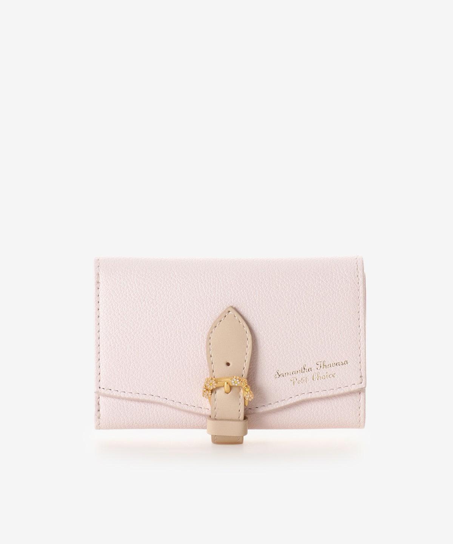 カモミールモチーフベルトL字ジップ折財布