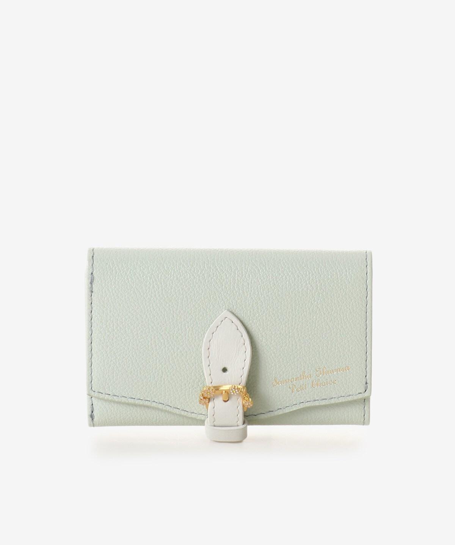 ★カモミールモチーフベルトL字ジップ折財布