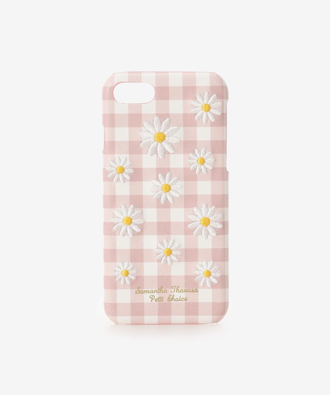 iPhone8ケース カモミール刺繍