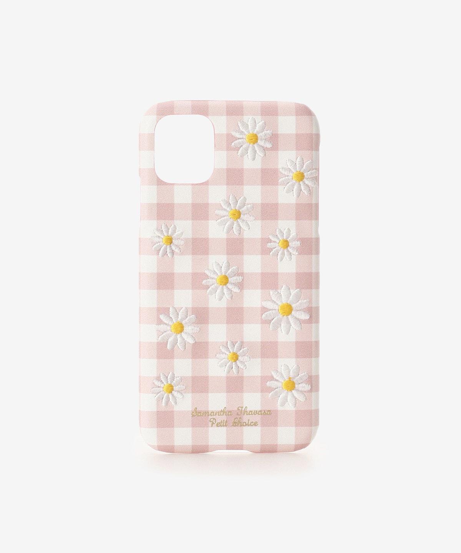 iPhone11ケース カモミール刺繍
