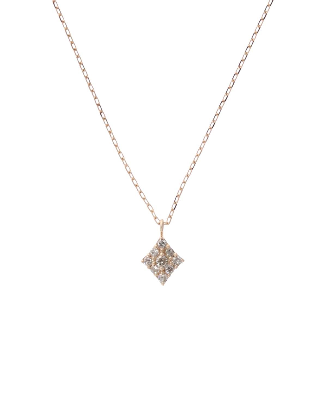 ダイヤモンドパヴェネックレス(ひし形)