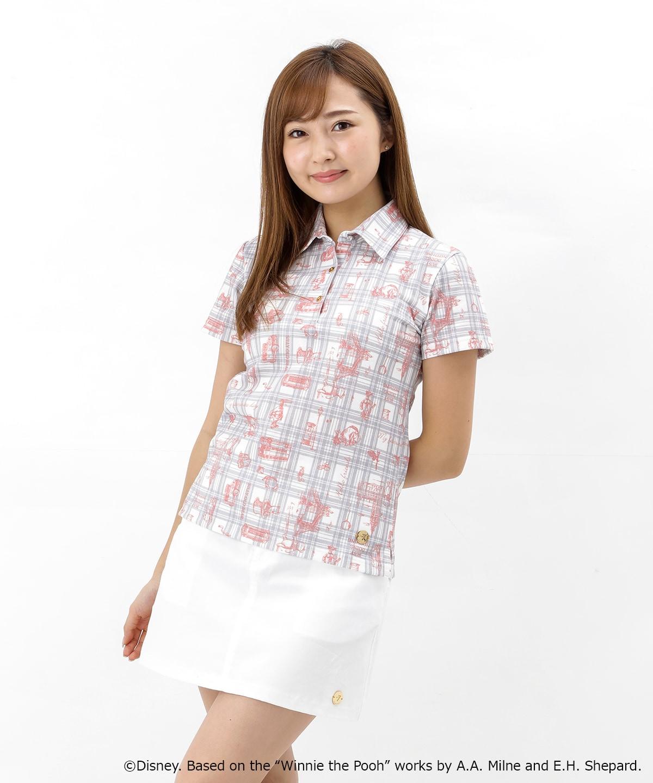 くまのプーさん 総柄デザインポロシャツ