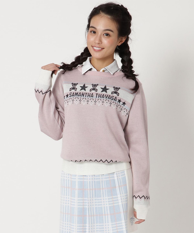 ニットジャガードアイミーちゃんセーター