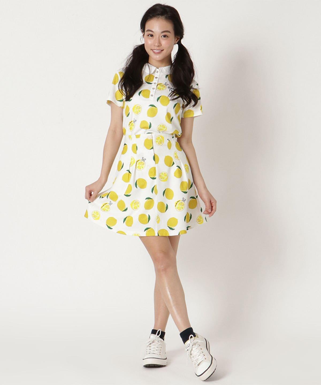 レモン柄フレアースカート